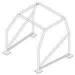 ROLL-CAGE ROCKER-SUPPORT 1-5/8 TUBE MILD STEEL