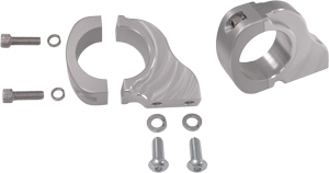 90-degree Solid Mounts for Custom Installation, Polished Finish