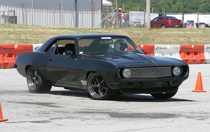 Chassisworks equipped 1969 Camaro on autocross course